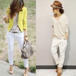 白パンツのレディースの春コーデ!人気の白パンツを紹介!