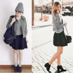 フレアスカート(黒)のコーデ!人気の黒フレアスカートを紹介!