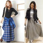ロング・マキシ丈のスカート(チェック)のコーデ!人気のチェックのロング・マキシスカートを紹介!