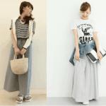 ロング・マキシ丈のスカート(グレー)のコーデ!人気のグレーのロング・マキシ丈スカートを紹介!
