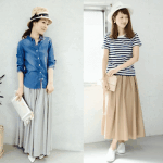 ロング・マキシ丈のスカートの春コーデ!人気のロング・マキシスカートを紹介!