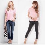 ポロシャツ(ピンク)のレディースのコーデ!人気のピンクのポロシャツを紹介!