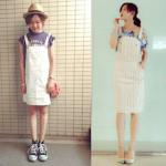 サロペット(スカート)の夏コーデ!人気のスカートサロペットを紹介!