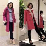 ダッフルコート(ピンク)のレディースのコーデ!人気のピンクのダッフルコートを紹介!
