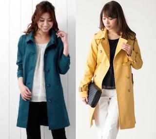 スプリングコートとレンチコートの違いは?