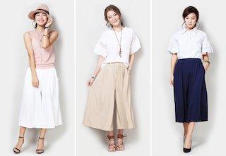 ユニクロのスカーチョを着こなす方法2 カラーバリエーションが豊富