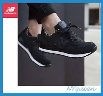 New Balance 574 ブラッ::レオパード