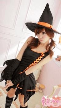 魔女のハロウィン仮装3