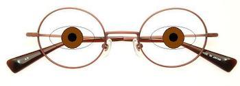 丸メガネの選び方4 PDの位置でレンズサイズを決める