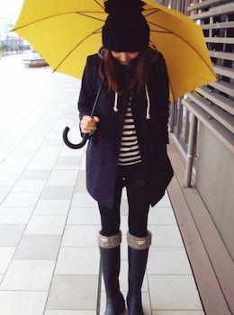 メルトンコートの手入れ方法5 (雨の日、メルトンコートは避ける)