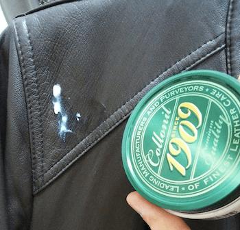 レザージャケットの薄い汚れのお手入れ方法:専用クリーム
