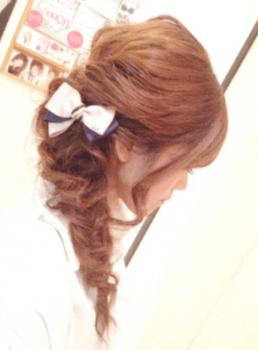 入学式でスーツに合うロングの髪型でサイドフィッシュボーンの髪型