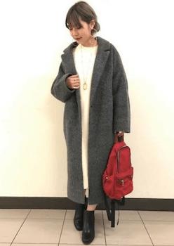 身長が低い人のチェスターコート(ロング丈)の選び方3ファッション小物選び