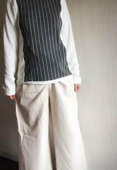 ウエストラインが選べるレディースに人気の白のジョガーパンツ