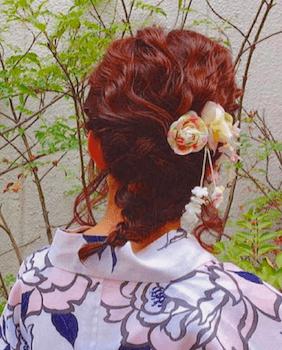 15浴衣に合うレディースのフィッシュテールのボブの髪型