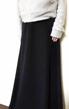裏起毛の可愛いおしゃれなマキシスカート