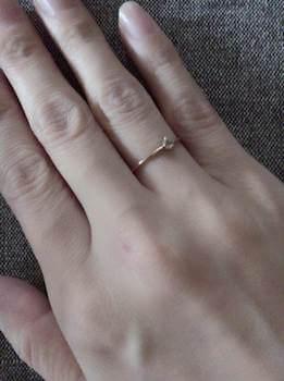 ローズカットダイヤモンドのレディースに人気のリング