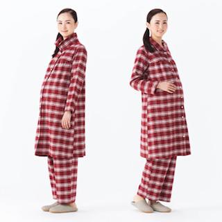 ロング丈のマタニティパジャマ