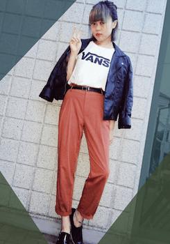 7ブランドTシャツ×ブルゾン×テーパードパンツ