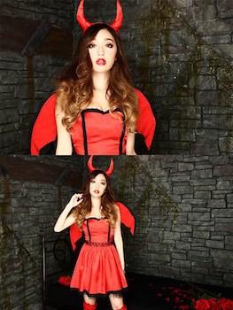 小悪魔のハロウィン仮装2