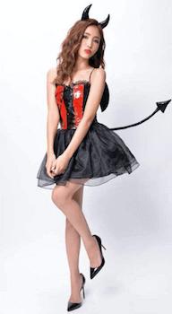 小悪魔のハロウィン仮装6