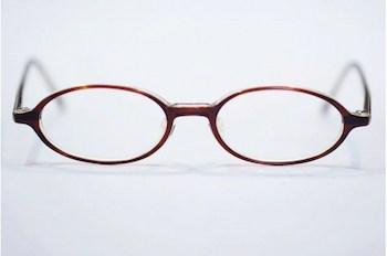 丸メガネの形1 オーバル