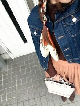 スエードブーティ×Gジャン×プリーツスカート