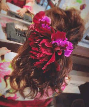 1卒業式で袴に合うゆるふわのセミロングの髪型