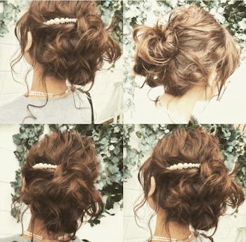 結婚式で人気のロングのふんわりくるりんぱの髪型