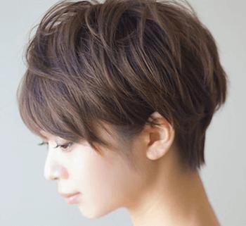 ショートのトップアップブローの髪型
