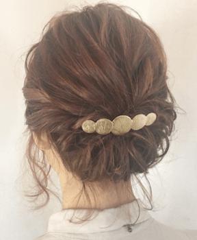 結婚式で人気のボブの髪型18:ハーフくるりんぱ