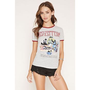 リンガーTシャツのレディースのコーデ方法1(サーフスタイルに着こなす)