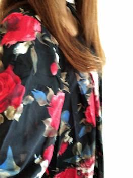 花柄のレディースに人気のロングシャツ