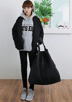 韓国ファッション:フードパーカーの着こなし方