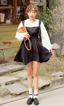 韓国ファッション:ビックブラウスの着こなし方