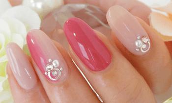 大人に人気のネイルのデザイン(春編)7:ピンク×ピンク