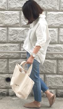 オーバーシャツ×ジーンズのレディースのコーデ(春夏編)