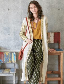 エスニックファッションのレディースのおしゃれな着こなし方:品の良さ