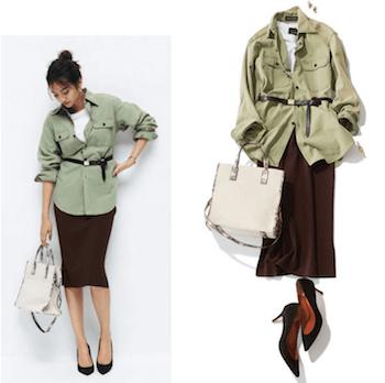 サファリジャケットを使ったレディースにおすすめの着こなし方:オフィススタイル