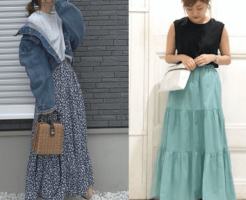 corded tiered skirt (spring and summer)! Introducing popular tiered skirts