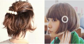 ショートへアの髪型に合うヘアアクセサリー