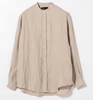 バンドカラーシャツ:レディース
