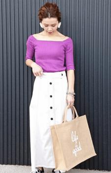 ロング丈のタイトスカート