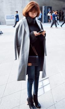 ロング丈のPコート