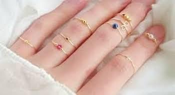 指輪の重ね付けにおすすめの指輪:ファランジリング