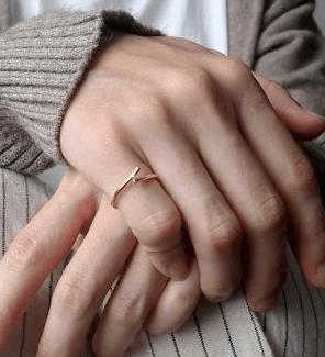 右手の小指