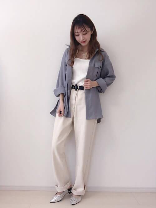 ホワイトデニム:https://wear.jp/34cm/16778047/