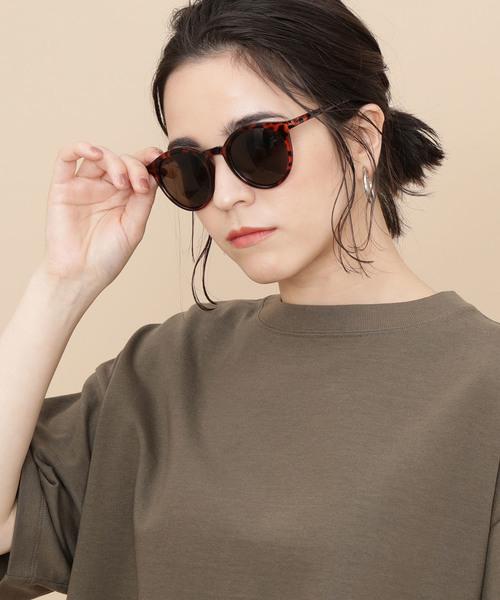 眉毛と同じ位置のサングラス