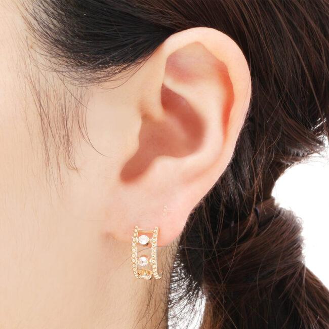 ピアスを開ける位置:耳たぶ