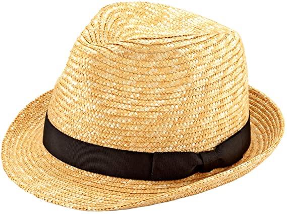 麦わら帽子の種類:中折れハット